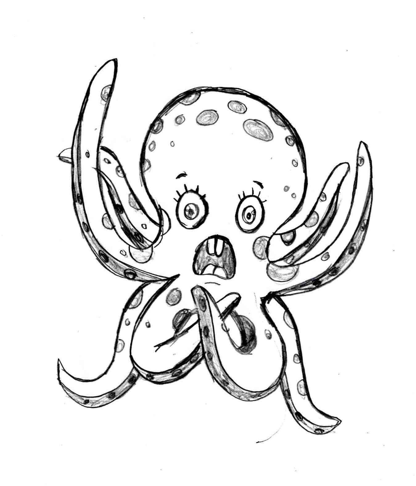 octupus drawing i drew a little octopus while i was bored drawing drawing octupus