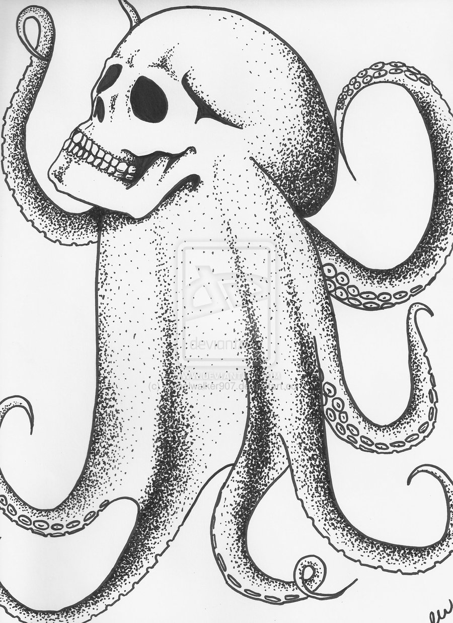 octupus drawing octopus by themajord on deviantart drawing octupus