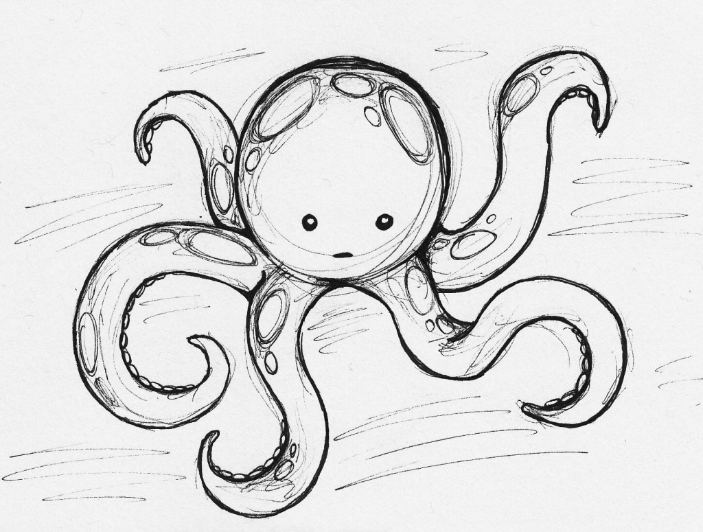 octupus drawing octopus drawing by samsa studio drawing octupus
