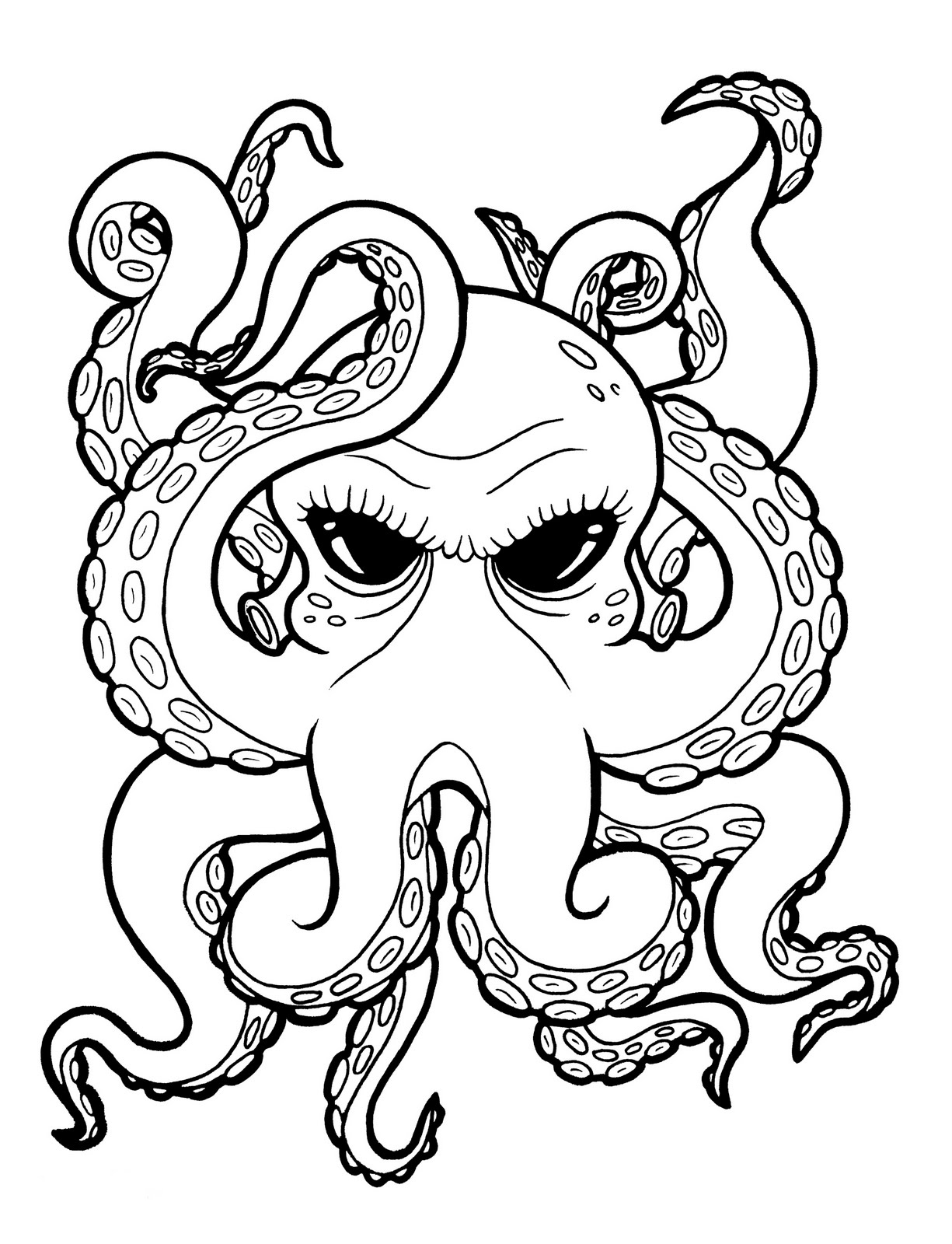 octupus drawing octopus line drawing free download on clipartmag drawing octupus