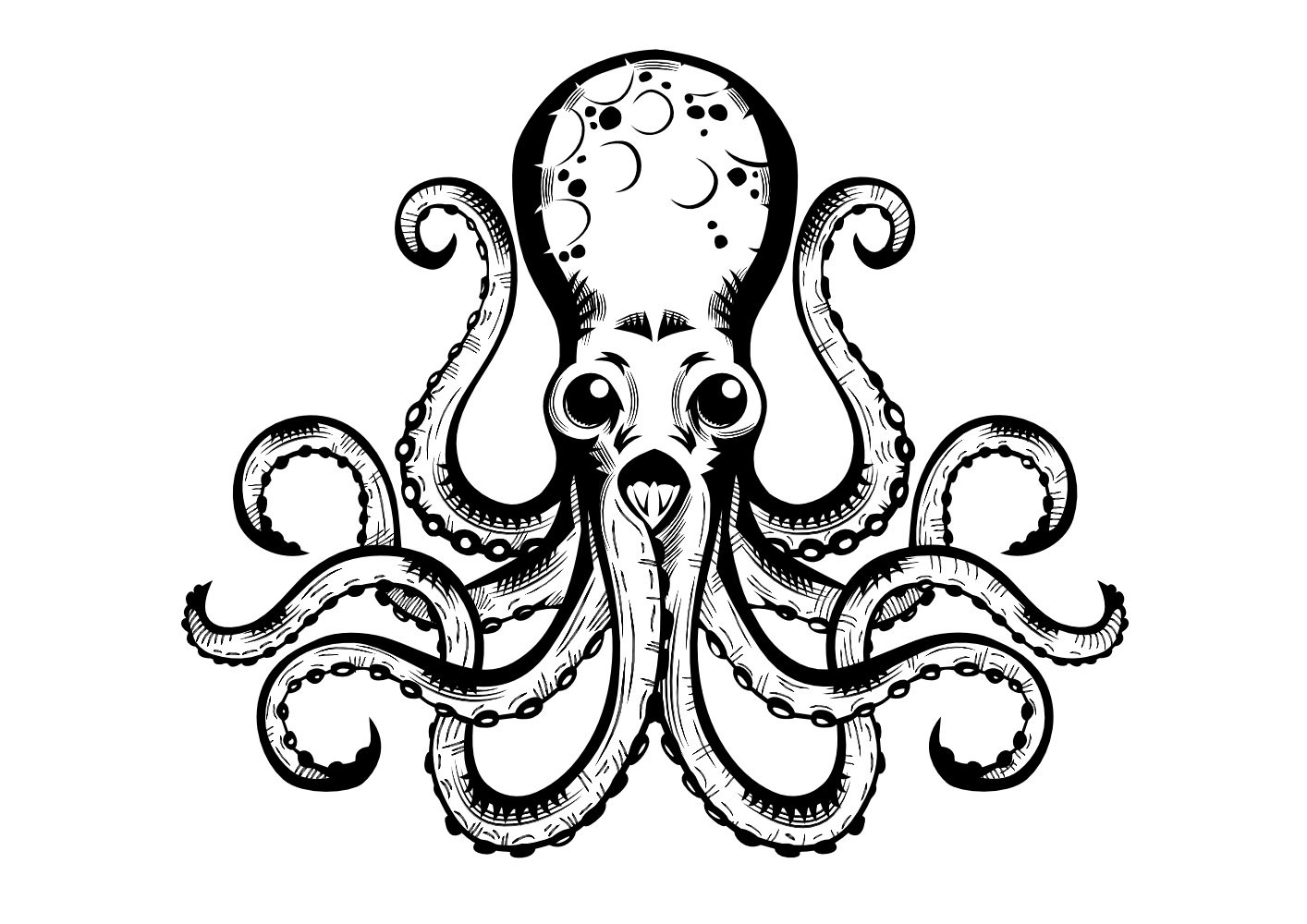 octupus drawing vintage octopus drawing at getdrawings free download drawing octupus