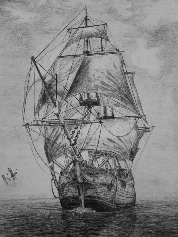 old pirate ship drawing old pirate ship on behance pirate old ship drawing