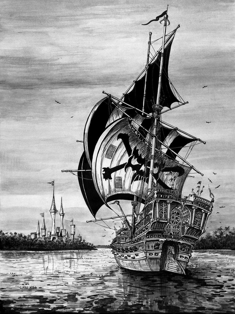 old pirate ship drawing pirate ship by gjsx51 on deviantart old ship pirate drawing
