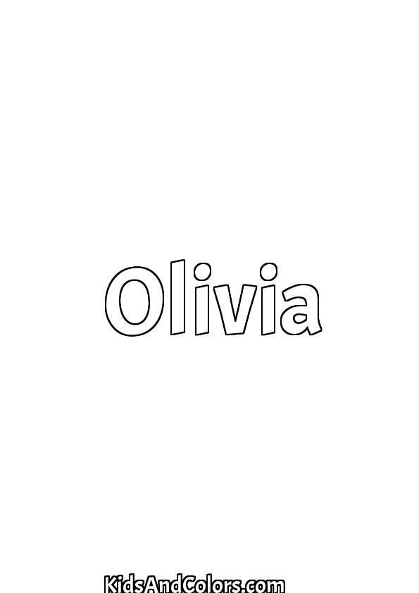 olivia printables olivianame olivia name coloring page halloween acme printables olivia