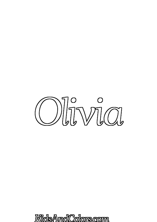 olivia printables olivianame olivia name coloring page halloween ahellya printables olivia
