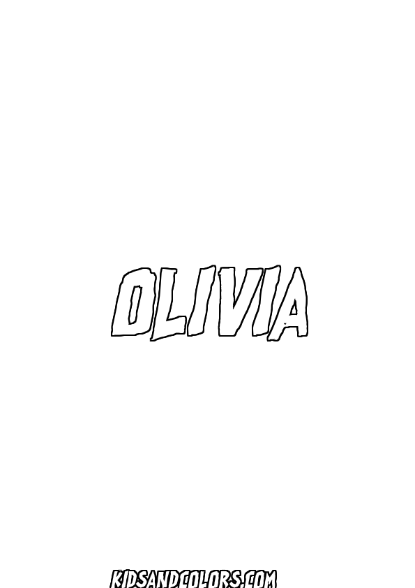 olivia printables olivianame olivia name coloring page halloween all exes printables olivia