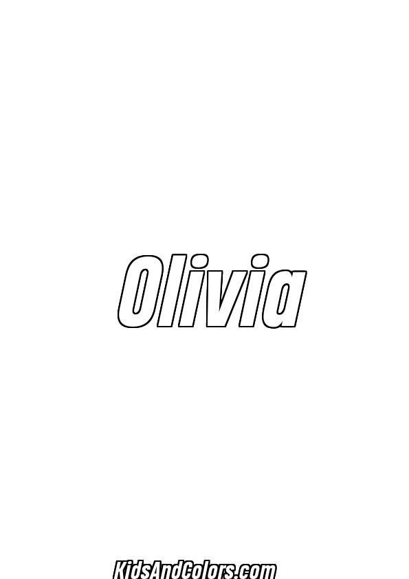 olivia printables olivianame olivia name coloring page heading pro olivia printables