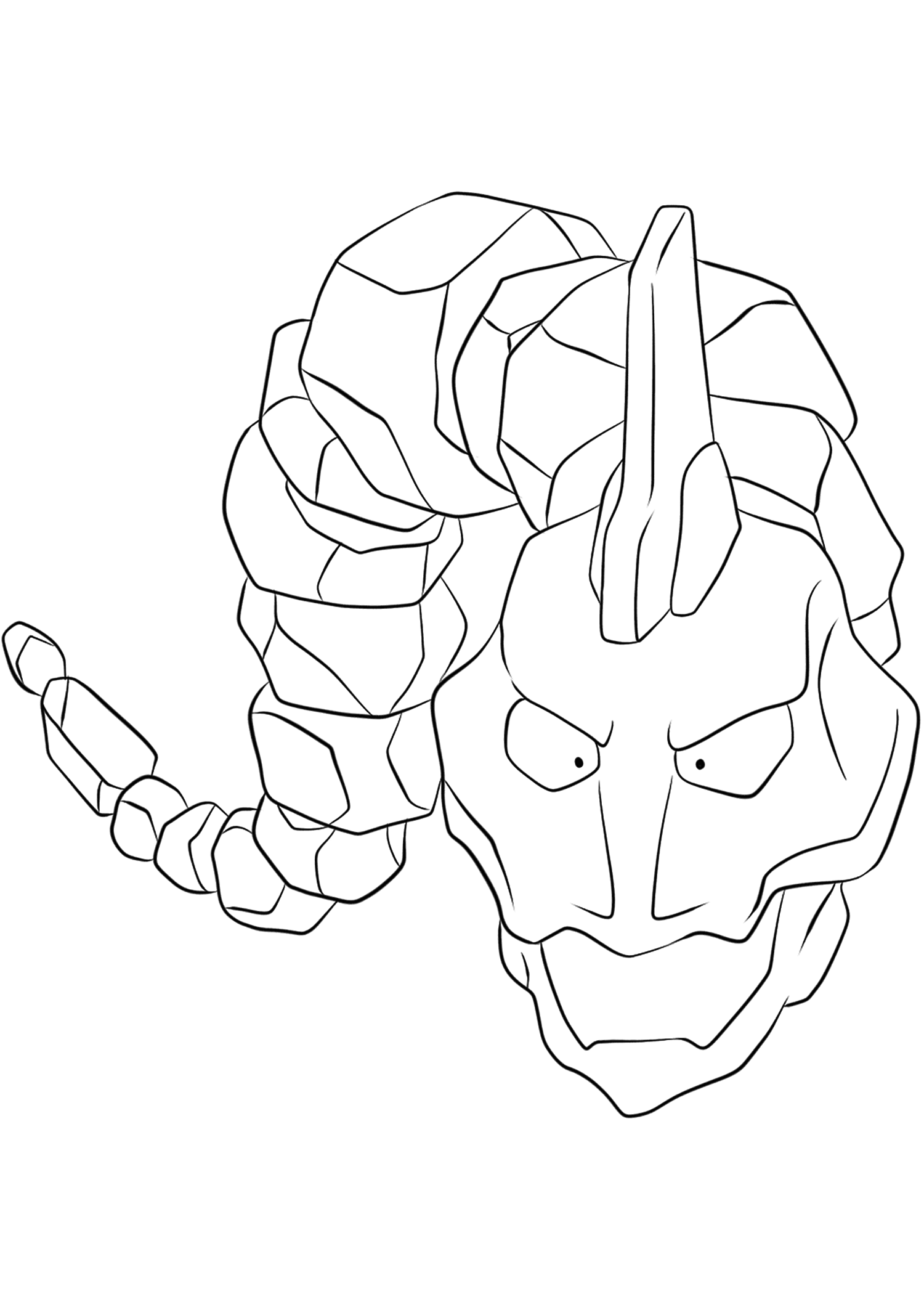 onix pokemon coloring page 095 onix lineart by lilly gerbil on deviantart pokemon coloring onix page