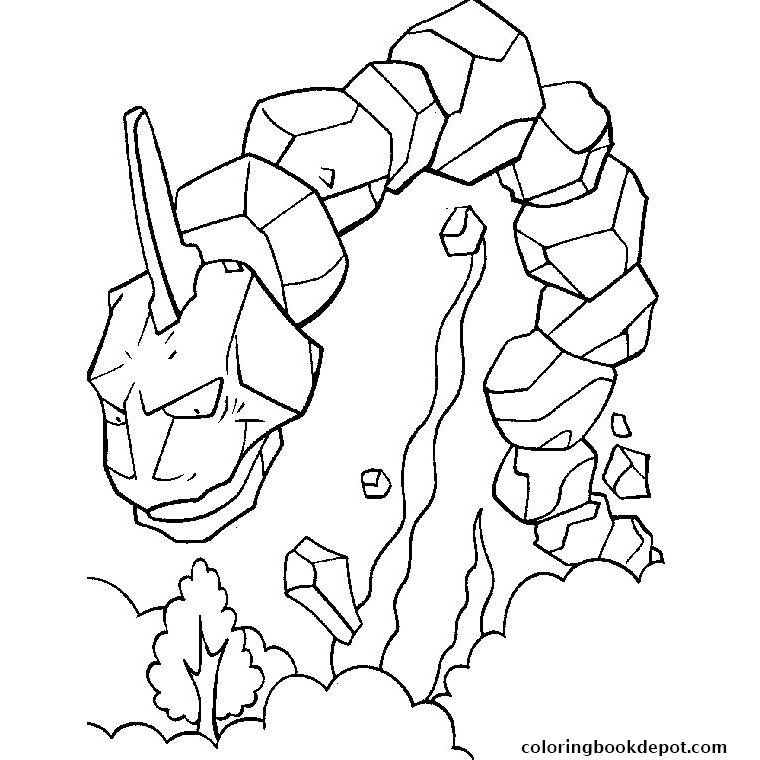 onix pokemon coloring page onix coloring pages at getdrawings free download coloring onix page pokemon