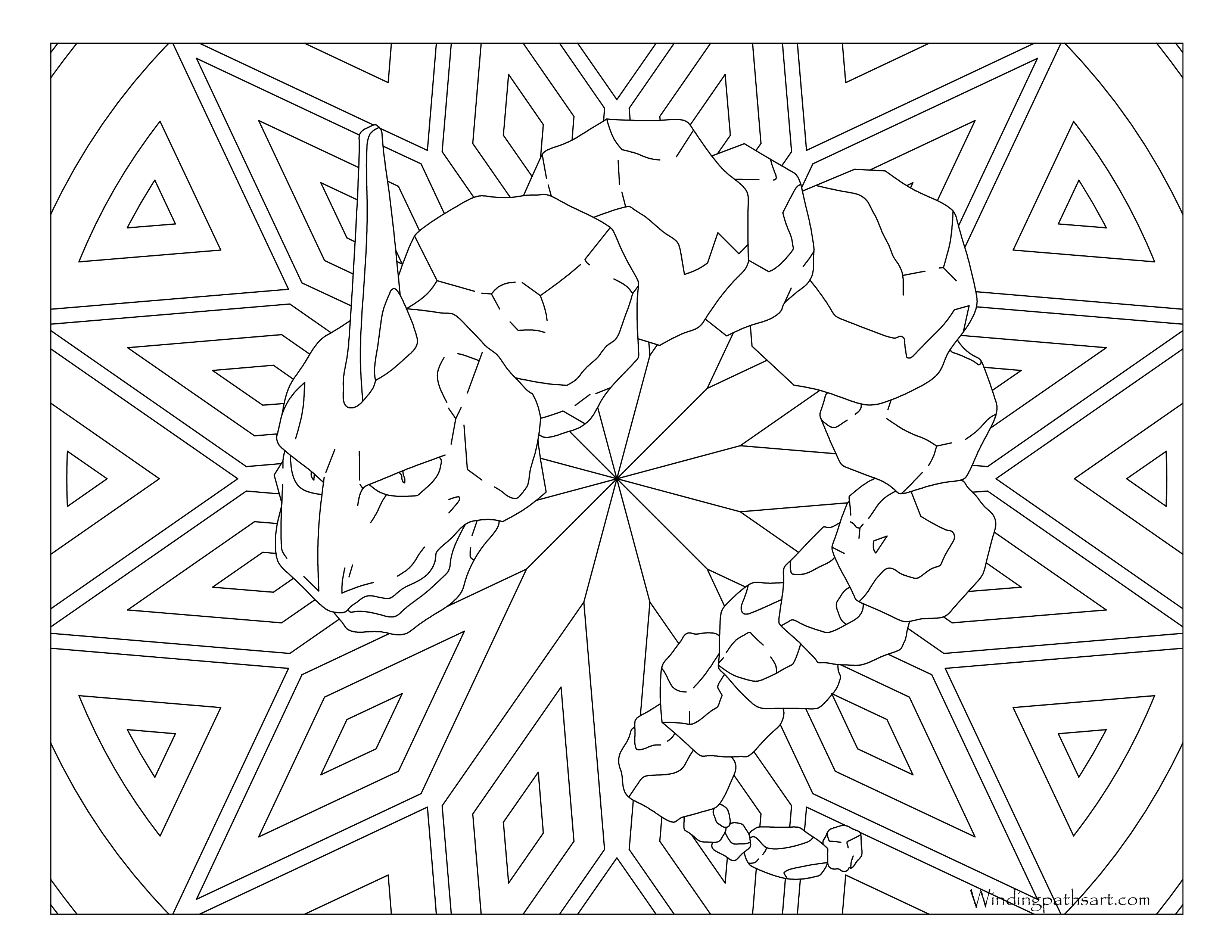 onix pokemon coloring page onix coloring pages at getdrawings free download onix pokemon coloring page