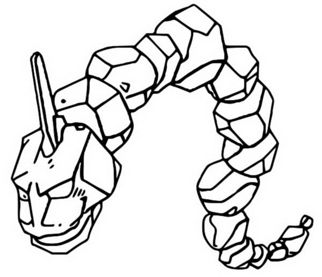 onix pokemon coloring page printable onix coloring page for both aldults and kids coloring pokemon page onix