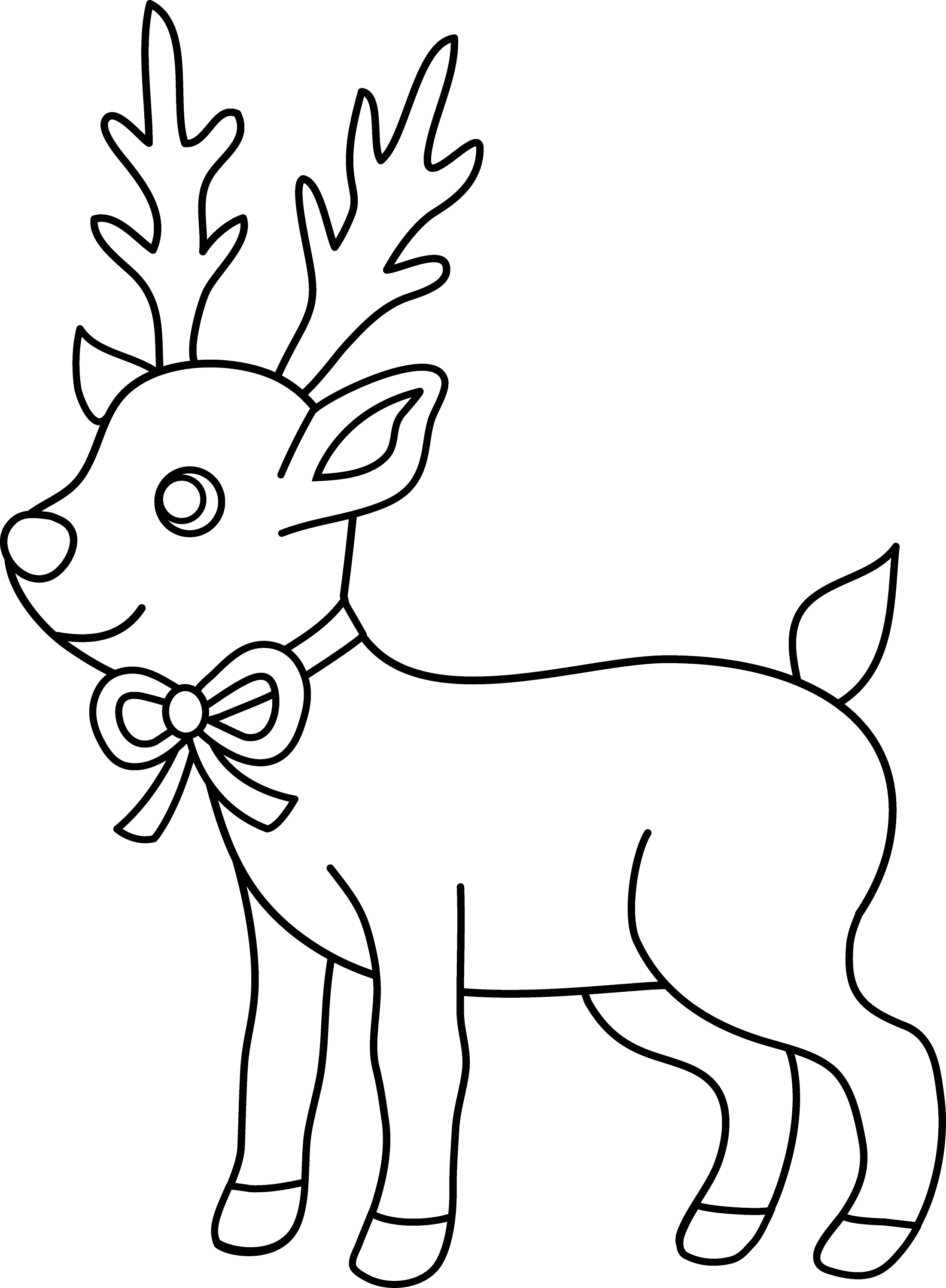 outline for coloring christmas reindeer coloring page free clip art coloring outline for