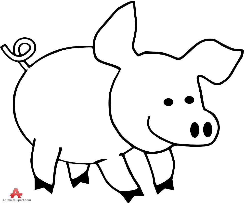 outline of a pig download high quality pig clipart simple transparent png of outline pig a