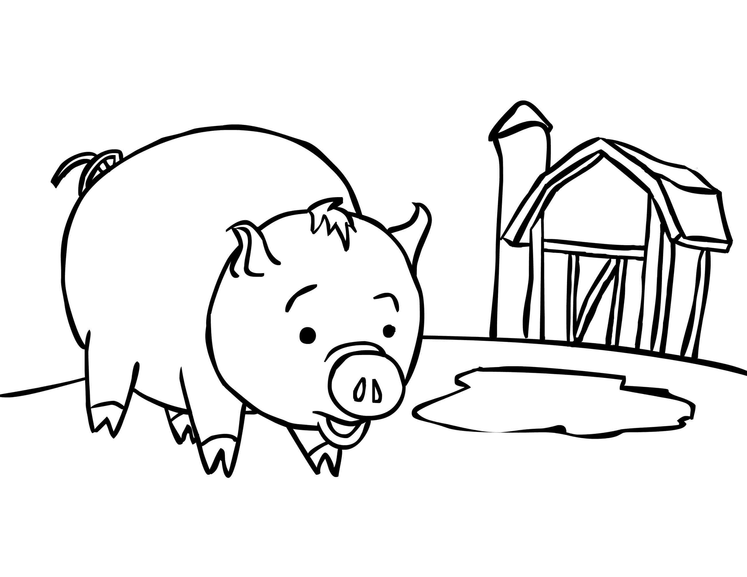 outline of a pig pig drawing clipart free stock photo public domain pictures of pig a outline