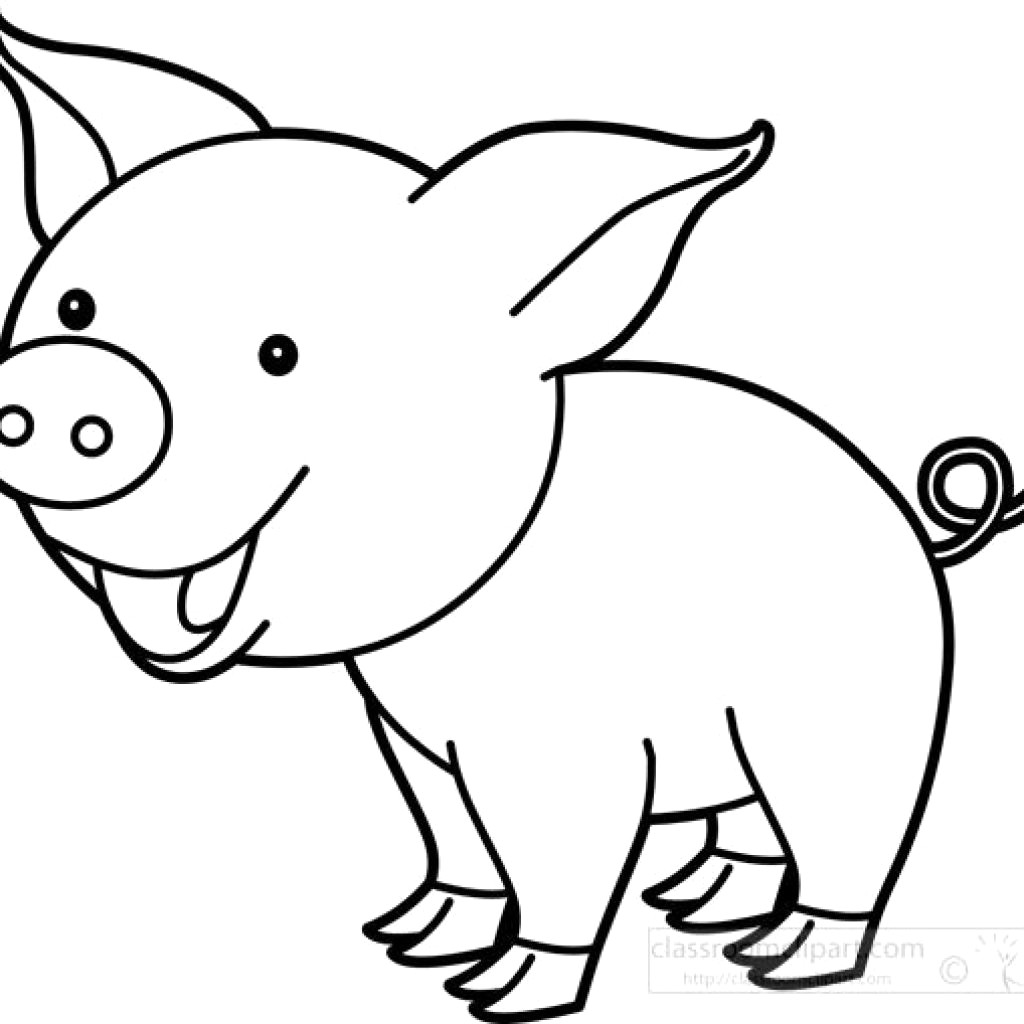 outline of a pig pig drawing outline clashing pride pig of outline a