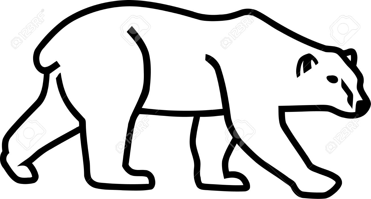 outline of a polar bear polar bear outline drawing at getdrawings free download bear outline polar of a