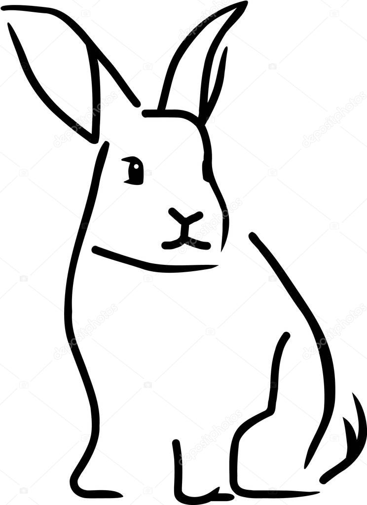 outline of bunny rabbit 60 rabbit shape templates and crafts colouring pages of bunny outline rabbit