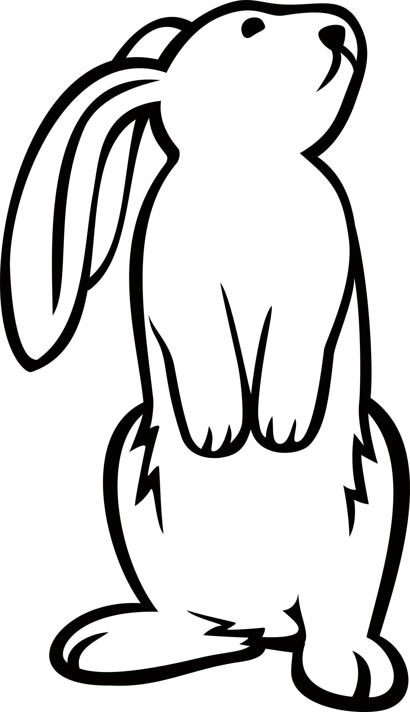 outline of bunny rabbit rabbit cartoon outline free download on clipartmag bunny outline of rabbit