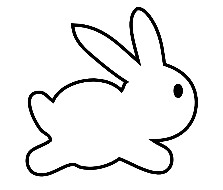 outline of bunny rabbit rabbit out line clipart best rabbit of bunny outline