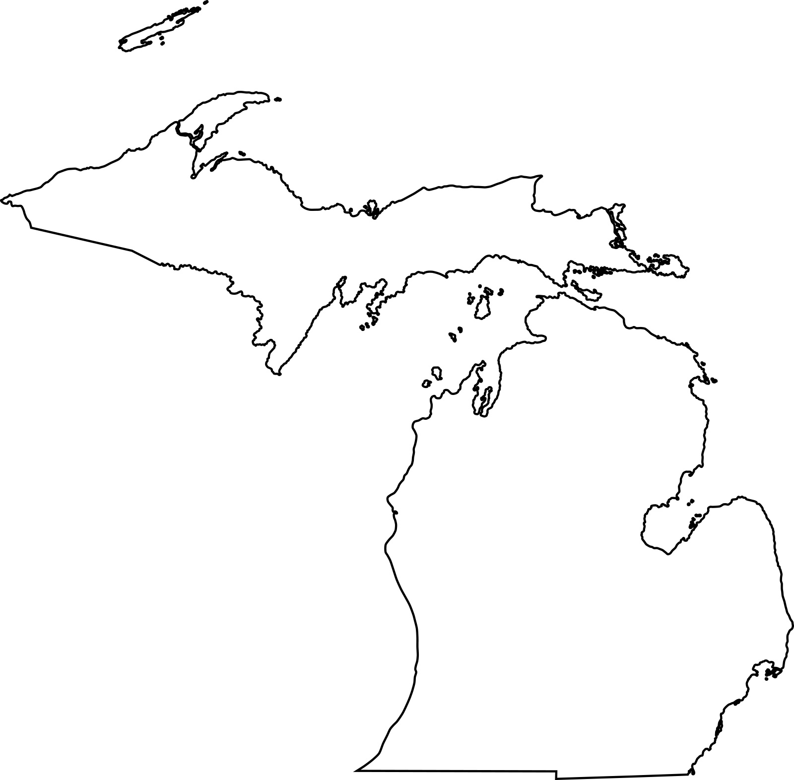 outline of michigan cool blank michigan state map glossy poster picture photo outline of michigan
