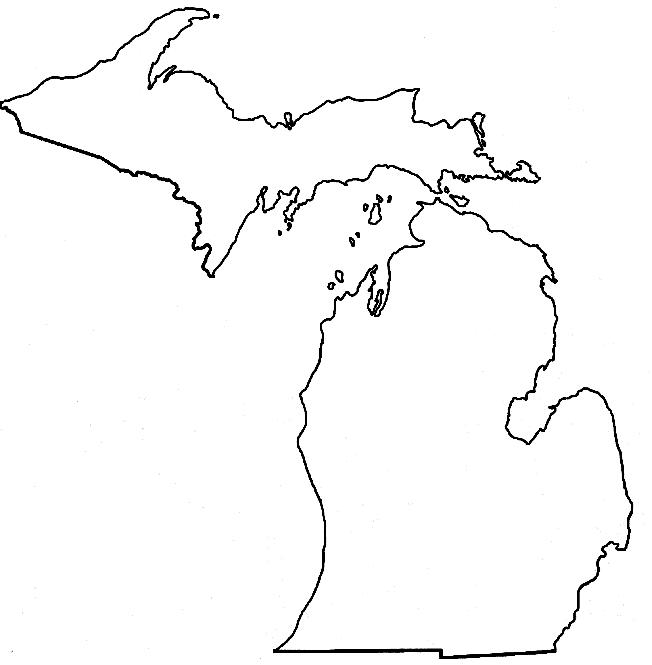 outline of michigan download michigan map outline state shape stencil pattern michigan outline of