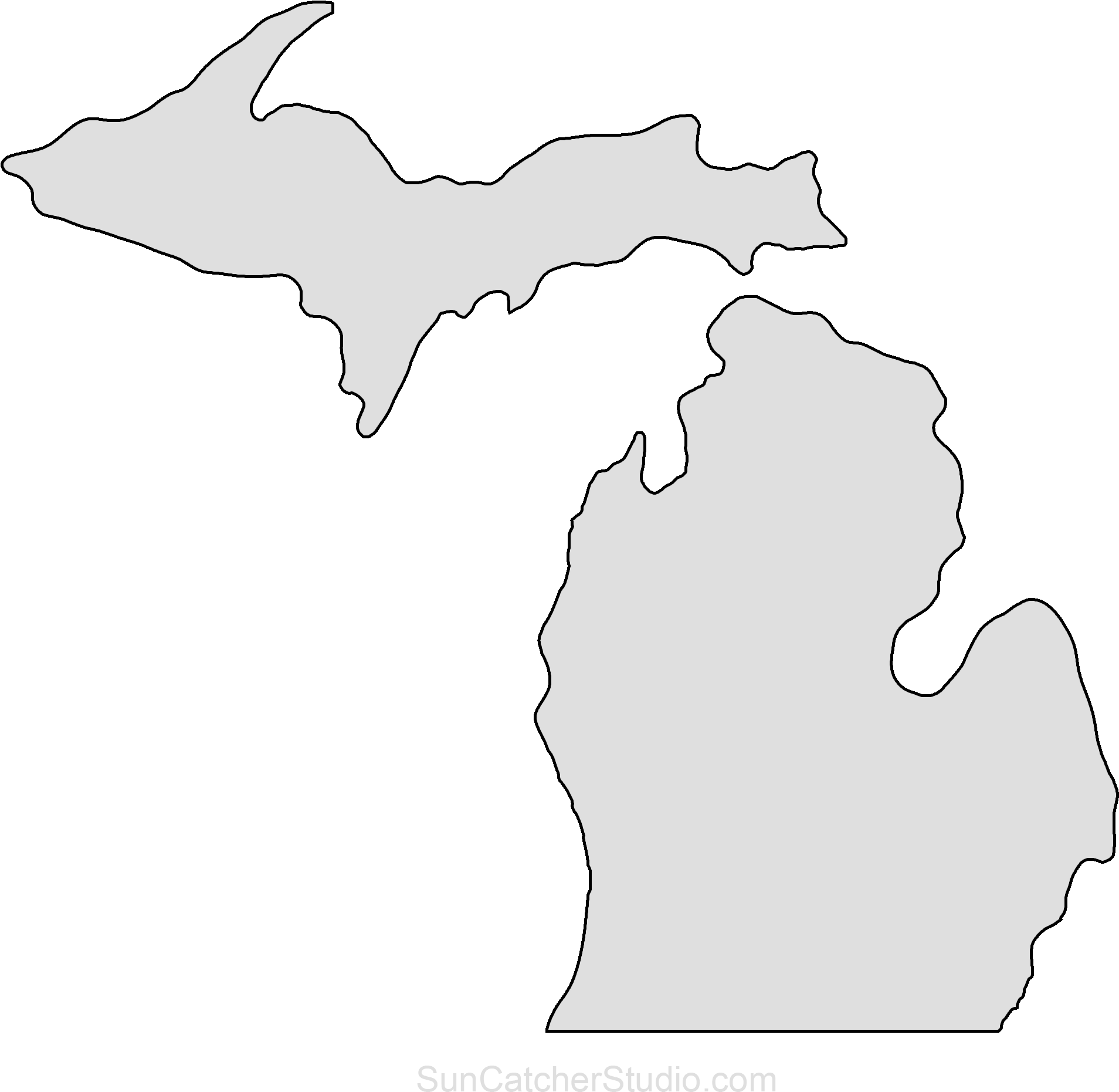 outline of michigan michigan blank map michigan of outline