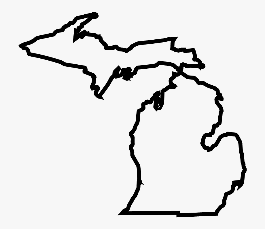 outline of michigan michigan map outline clip art at clkercom vector clip outline michigan of