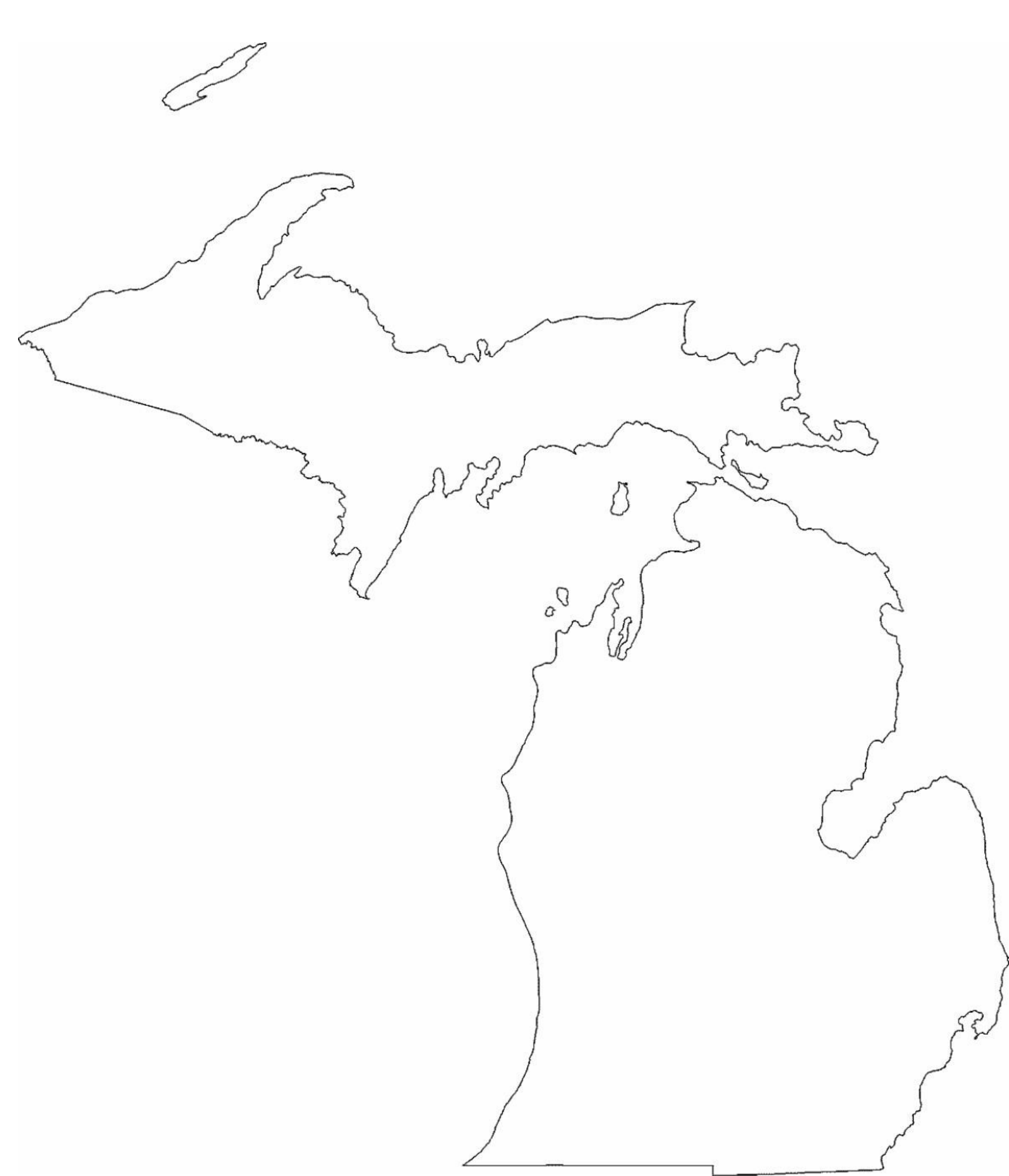 outline of michigan michigan map outline png shape state stencil clip art outline of michigan