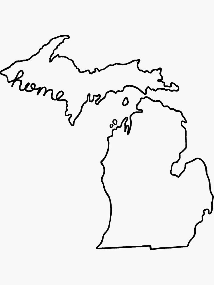 outline of michigan michigan state outline map free download of outline michigan