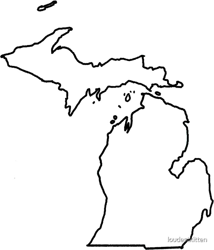 outline of michigan outline of michigan michigan of outline