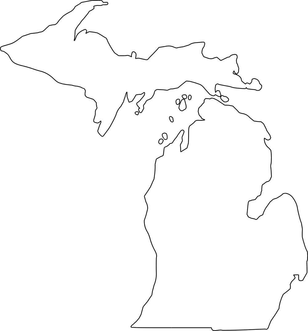 outline of michigan state of michigan picture clipart best of outline michigan