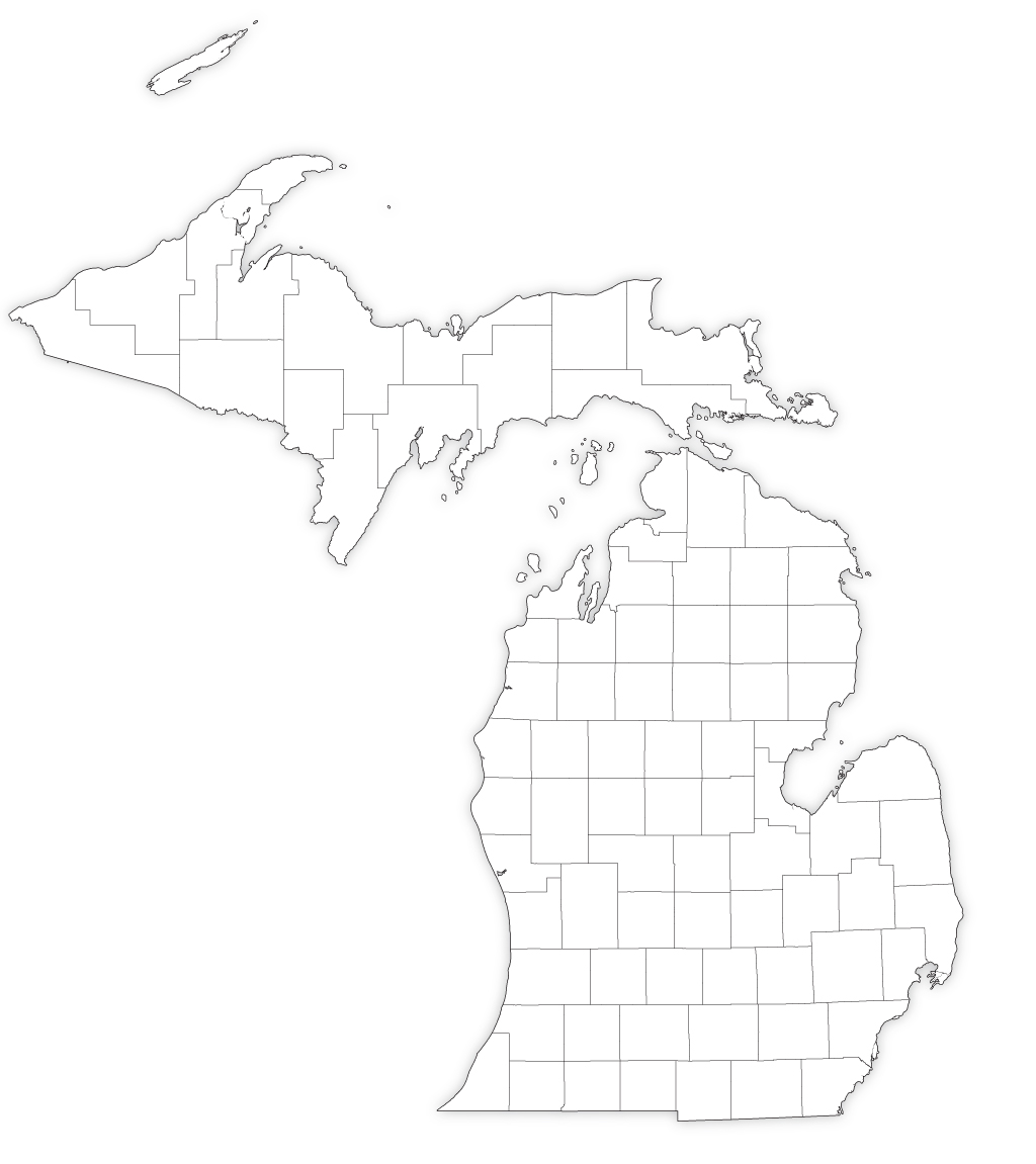 outline of michigan state outlines blank maps of the 50 united states gis of michigan outline
