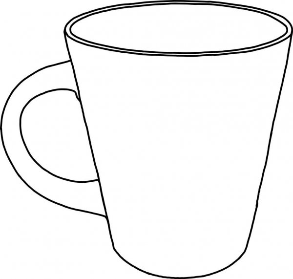 outline picture of cup clipart cup colouring page clipart cup colouring page outline cup of picture
