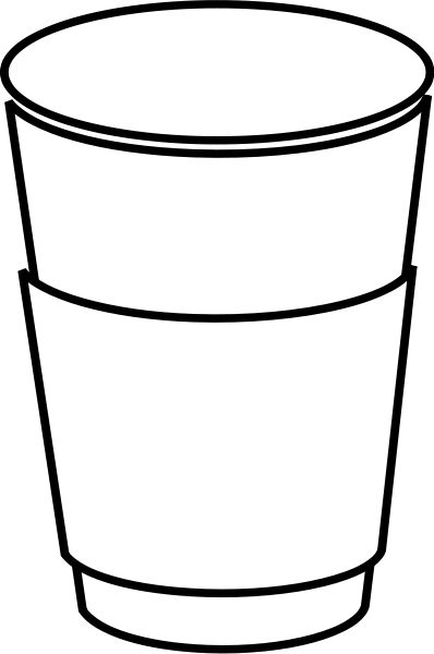 outline picture of cup cup free images at clkercom vector clip art online cup of outline picture