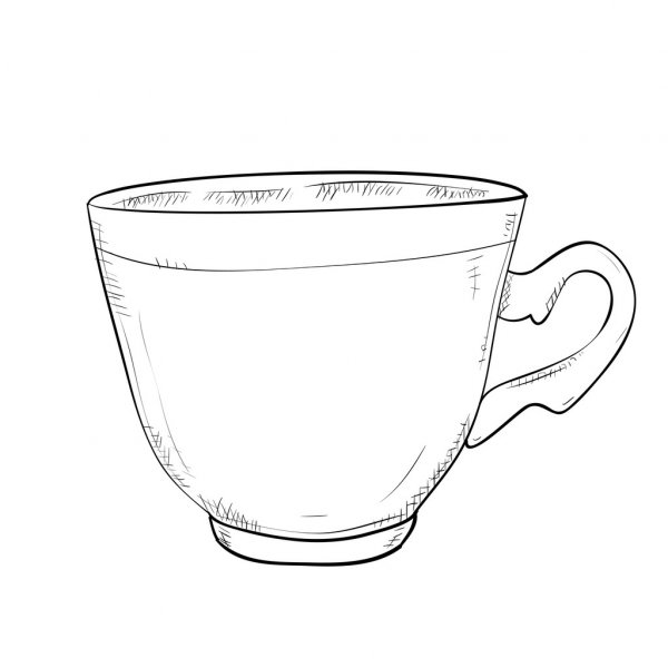 outline picture of cup outline picture of cup of outline picture cup