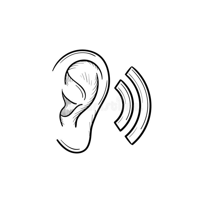 outline picture of ear drawing human ear outline illustration stock illustration picture ear outline of