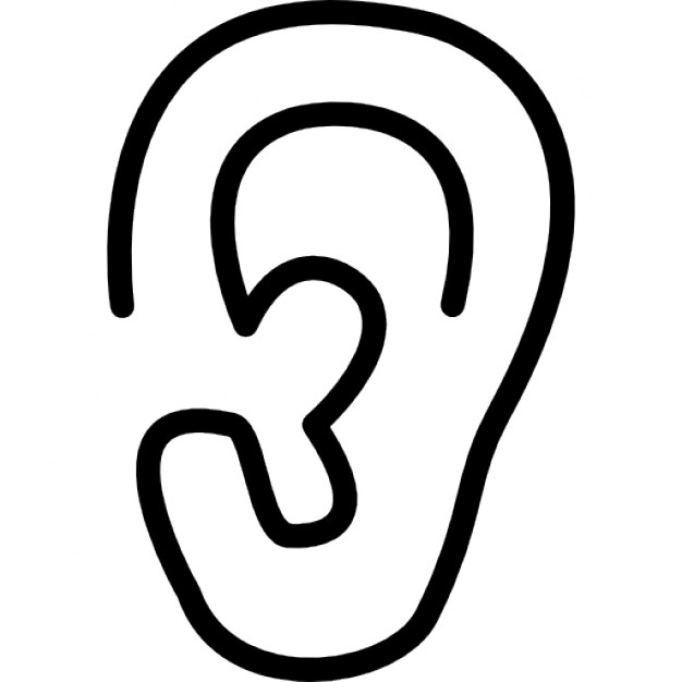 outline picture of ear ear clipart ear transparent free for download on picture outline ear of