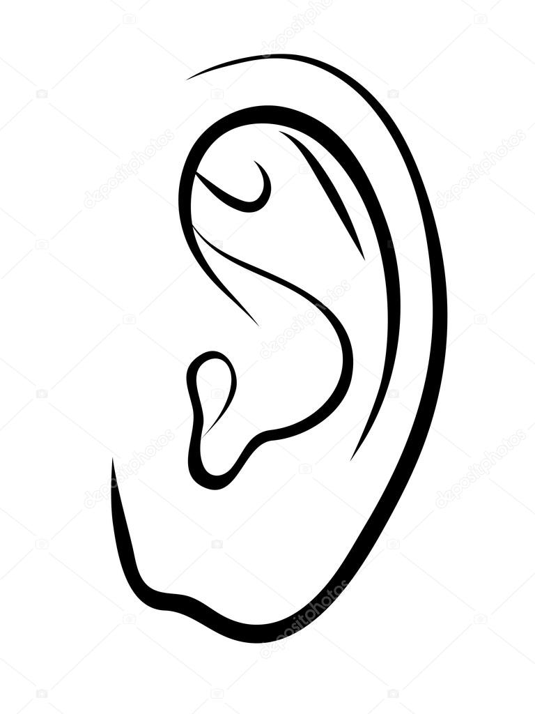 outline picture of ear ear outline coloring pages kids play color outline picture of ear
