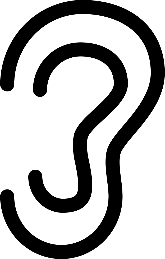 outline picture of ear ear outline drawing human ear outline vector ear picture outline of