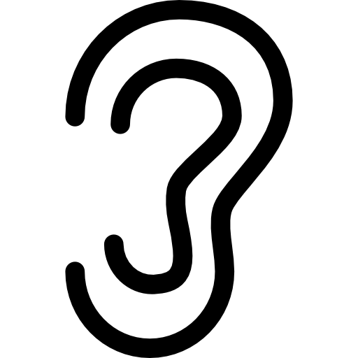 outline picture of ear ear outline free people icons outline of picture ear