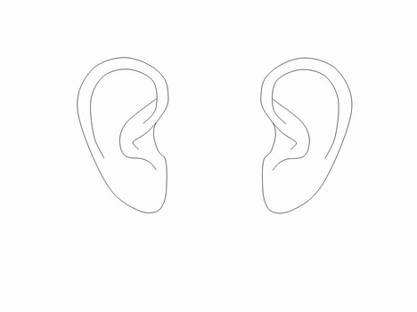 outline picture of ear ear outlines clip art outline of picture ear