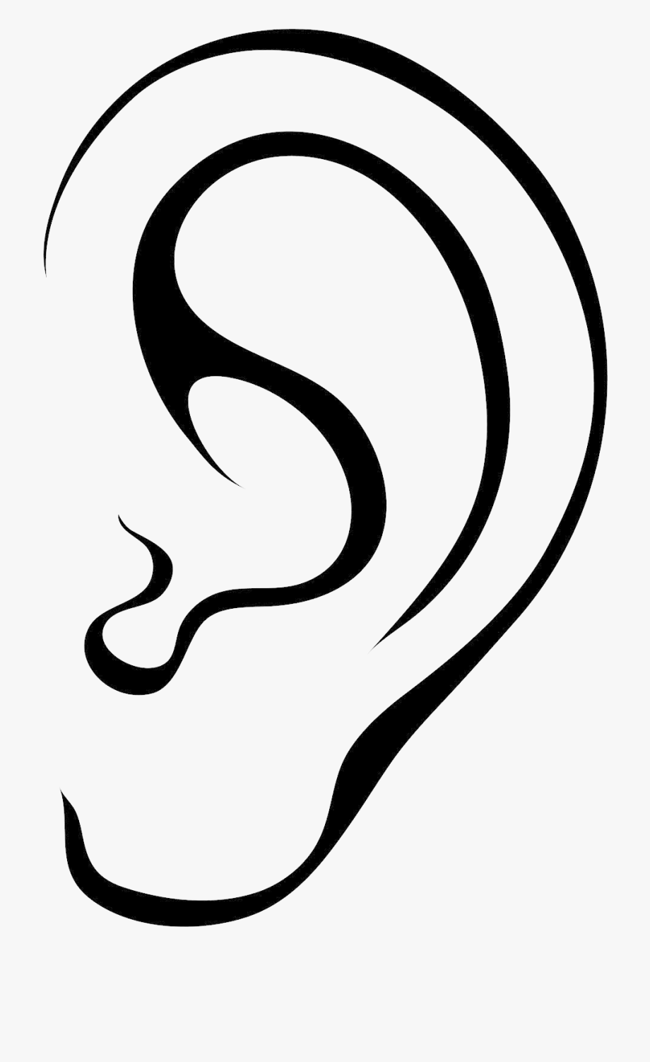 outline picture of ear ears picture outline of ear