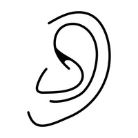 outline picture of ear linear art minimalism minimal linear linears outline outline of ear picture