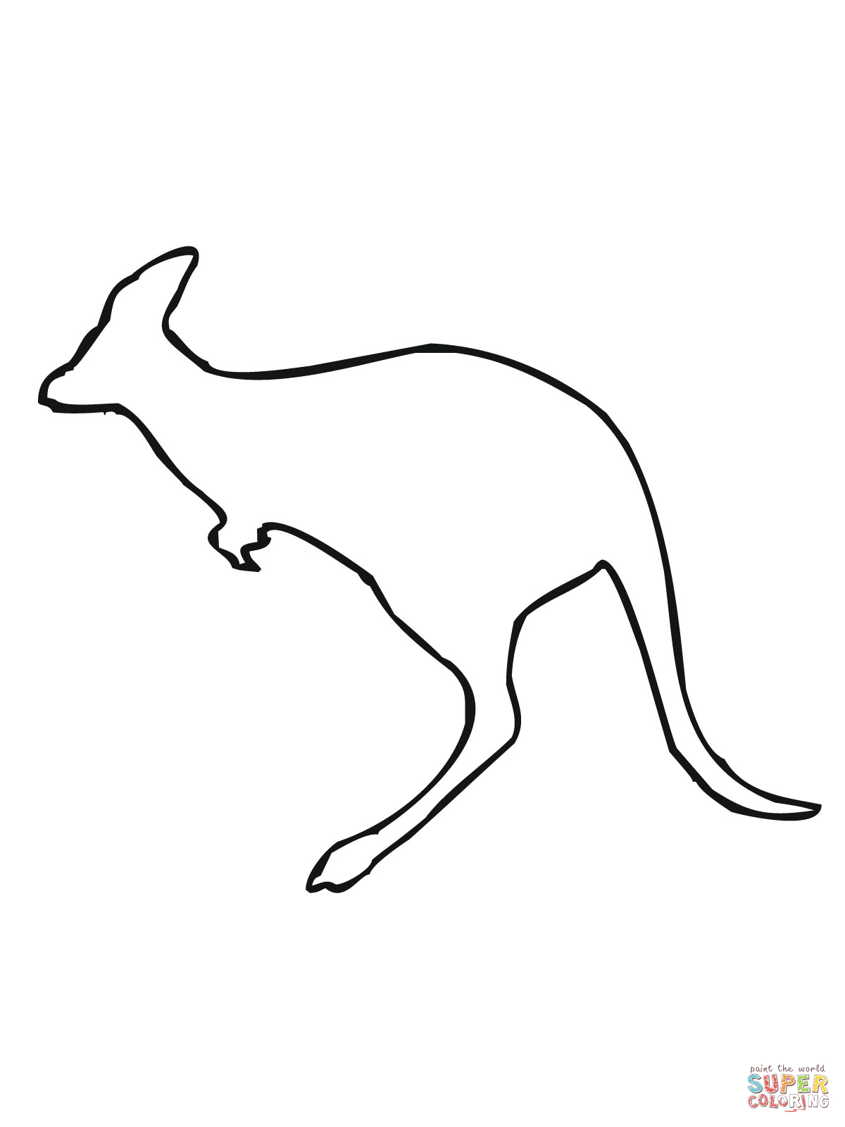 outline picture of kangaroo best kangaroo outline pictures illustrations royalty free outline picture of kangaroo