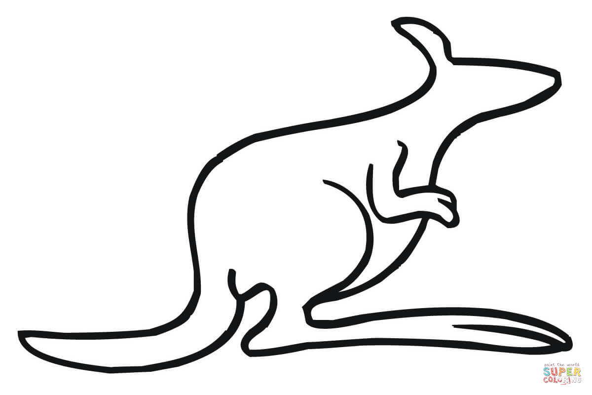 outline picture of kangaroo download high quality kangaroo clipart outline transparent picture kangaroo of outline