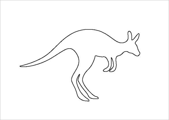 outline picture of kangaroo kangaroo outline drawing at getdrawings free download of kangaroo outline picture