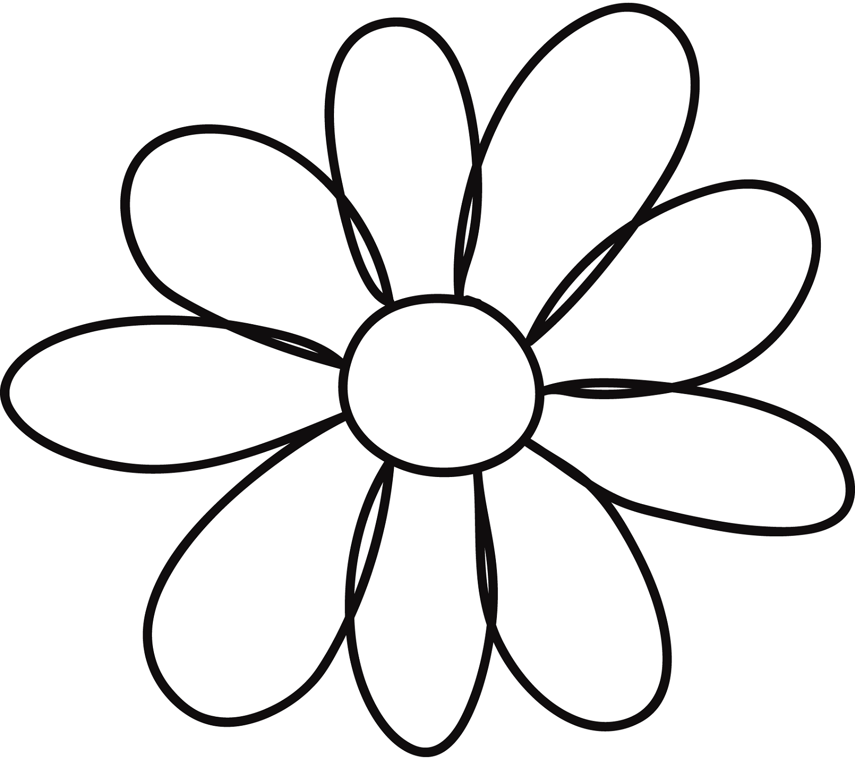 outline pictures of flowers for colouring flower template for children39s activities activity shelter colouring outline pictures of for flowers