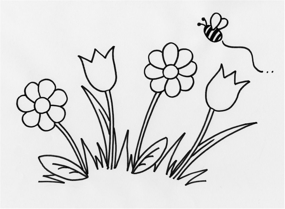 outline pictures of flowers for colouring simple flower outline coloring home flowers pictures for outline of colouring