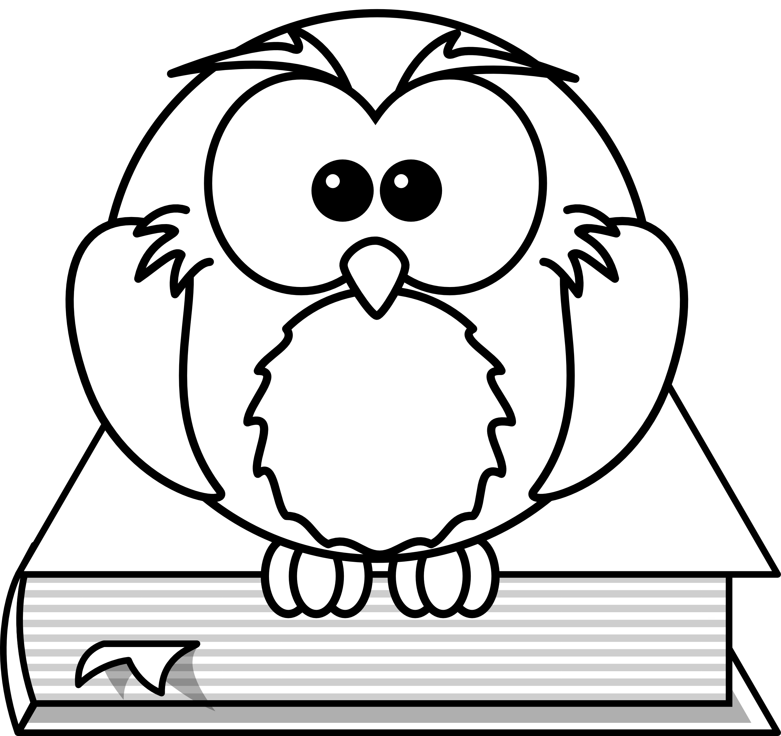 owl coloring images best black and white book clipart 18209 clipartioncom owl coloring images