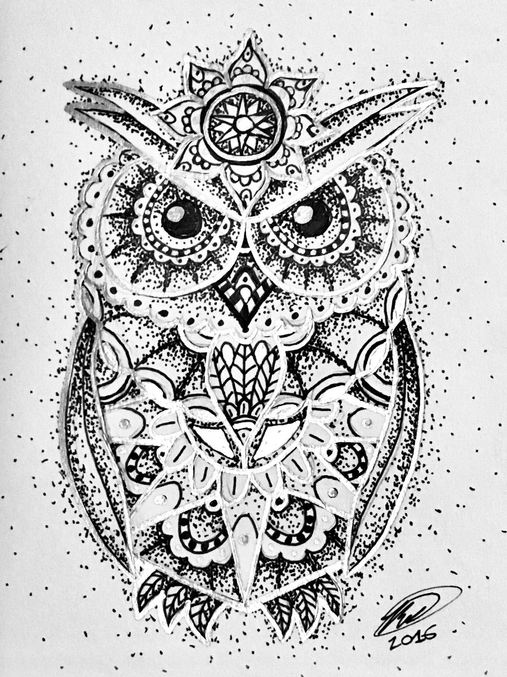owl mandala owl mandala with silver by ghostcr8zy on deviantart mandala owl